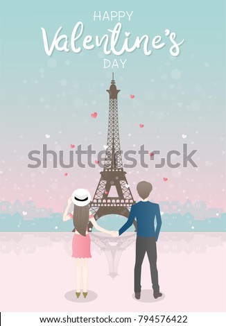 valentine's card with couple