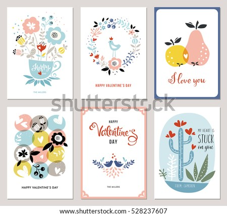valentine's cards in