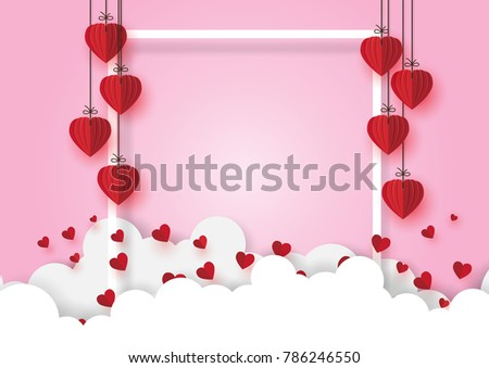 creative pink origami style heart design - Download Free Vector ...