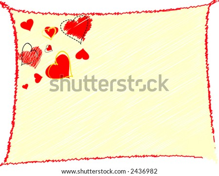 Valentine's day background, scalable, editable colors - vector illustration