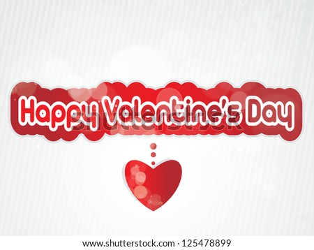 valentine's day background,Valentin e's Day type text,  Valentine's headline with heart - stock vector