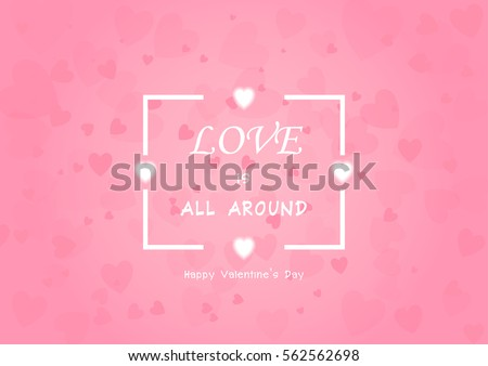 Valentine's Day background vector EPS10