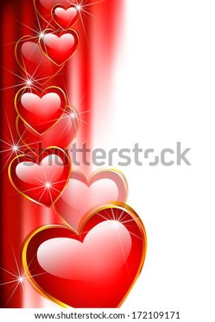 valentine\'s day background, vector illustration