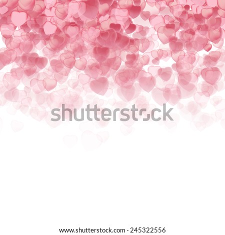 Valentine's Day Background with Hearts 3