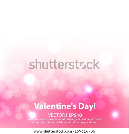 Valentine's day background with hearts. Vector EPS 10 illustration.