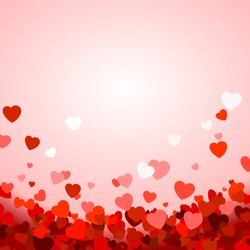 Valentine's day background with hearts. Vector illustration