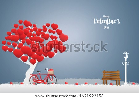valentine's day background with