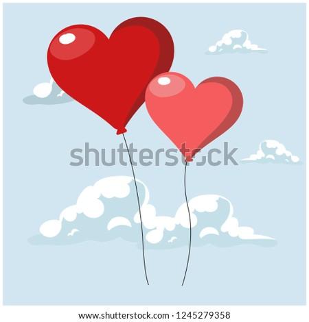 Valentine's Day balloons. Hearts. #1245279358