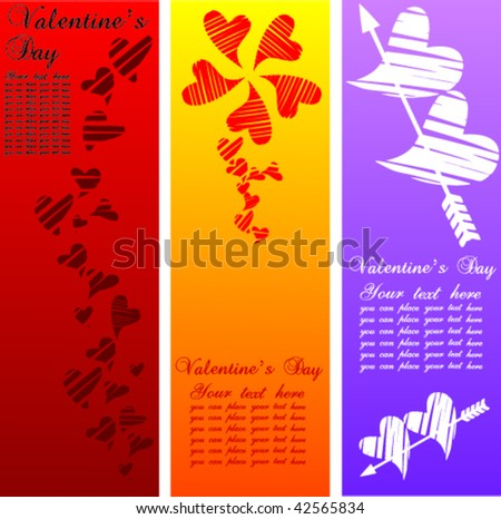 stock vector : Valentine's Day Banner 4