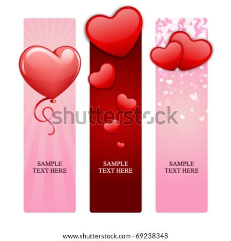 Valentine's day banners set 15