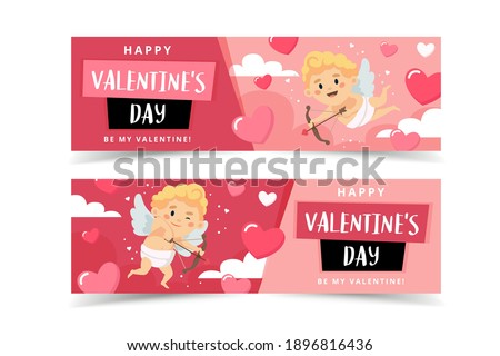 valentine's day banners with