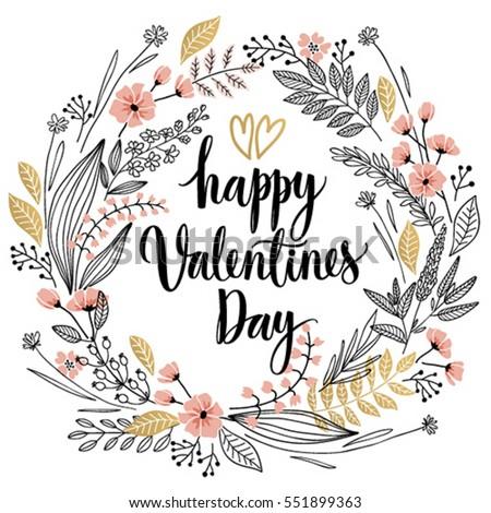 valentine s day callygraphic