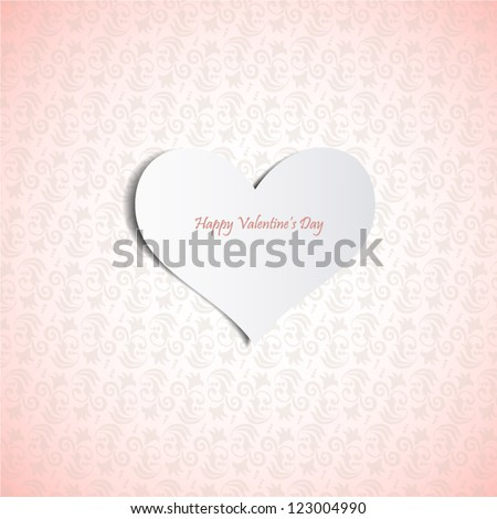 Valentine's day card.Can be used for packaging,invitatio ns, Valentine's Day decoration. - stock vector