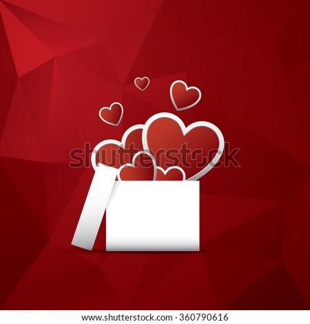 valentine's day card concept
