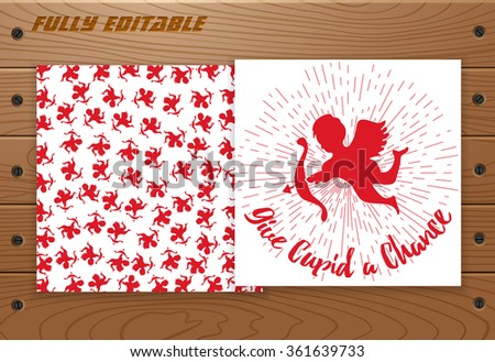 valentine's day card  poster on