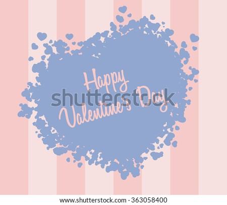 valentine s day card with