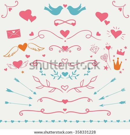 Simple Valentines Day Borders