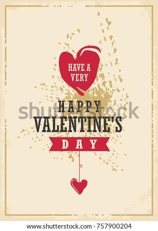 Valentine's day creative card design. Happy Valentines day.