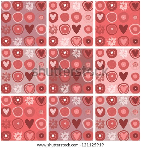 valentine's day, Cute love Background , I love you,seamless patter - stock vector