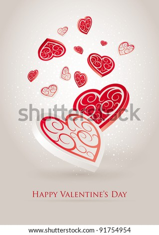 Valentine's Day. Editable vector illustration. CMYK color mode. Print ready. All elements are layered separately in vector file.
