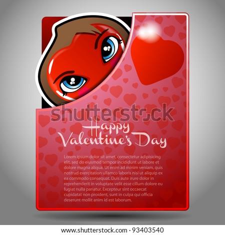 Valentine's Day Folder, Flyer or Cover Design