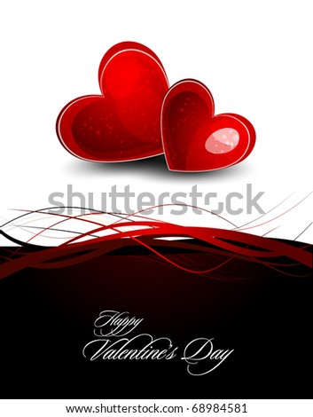 Valentine's Day Greeting Card   EPS10 Vector Background   Separated on Layers Named Accordingly - stock vector