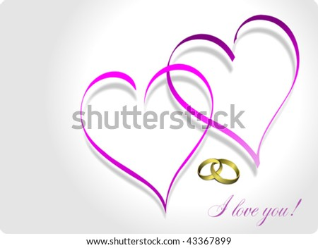 Wedding greeting card Vector illustration