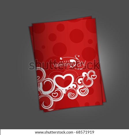 valentine's day greeting card with presentation design.