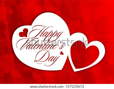 Happy Valentines Day Greeting Card Download Free Vector Art – Valentine Day Greetings Card