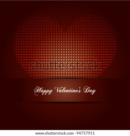 """Valentine's Day Greeting illustration, ideal for all """"Love Concept"""" works - stock vector"""