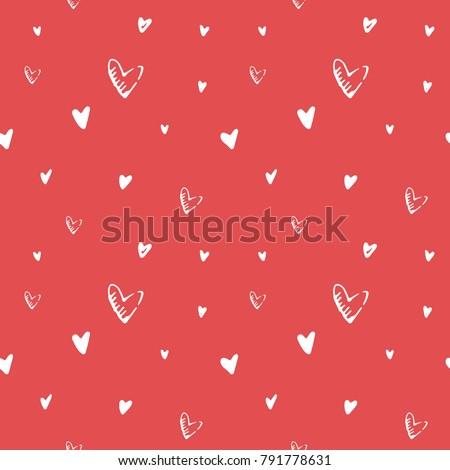 valentine's day hand drawn