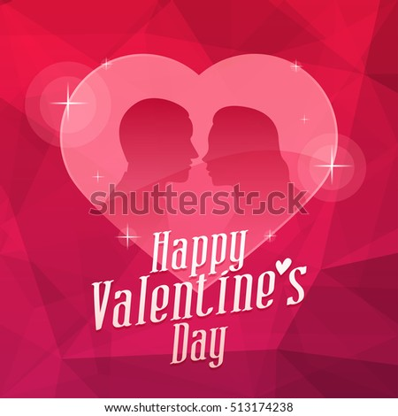 Valentine's Day Heart and Abstract Background #513174238