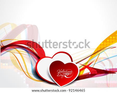 valentine's day, heart vector illustration.