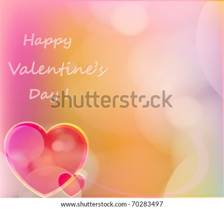 Valentine\'s Day Holiday Vector Background