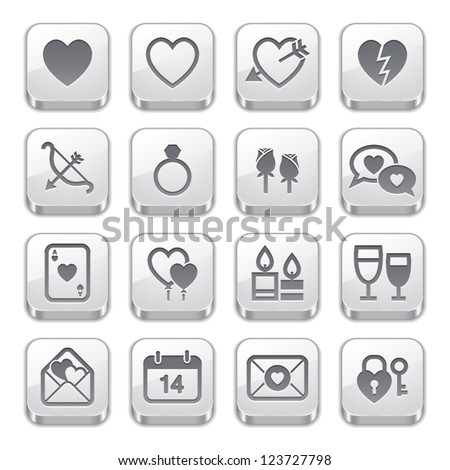 Valentine's Day Icons : Silver Style