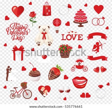 Valentine S Day Icon Set Download Free Vector Art Stock Graphics