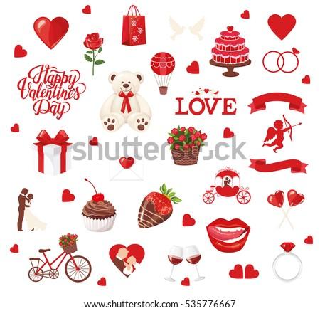 valentine's day icons  teddy