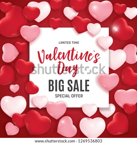 Valentine's Day Love and Feelings Sale Background Design. Vector illustration EPS10 #1269536803