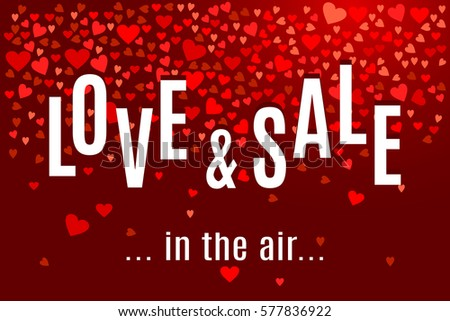 valentine's day love and sale
