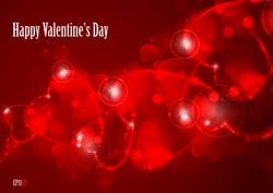 Valentine's day or Wedding background. Vector illustration. Eps 10.