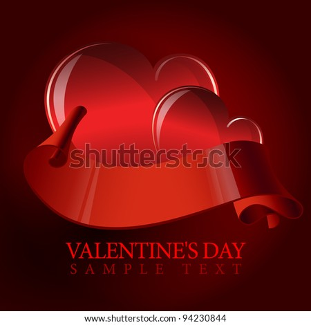 Valentine's day or Wedding vector background with heart