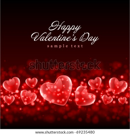Valentine's day or Wedding vector background with hearts - stock vector