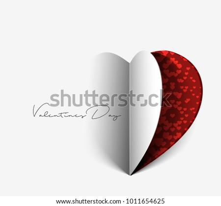 valentine's day paper curl