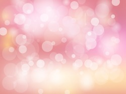 Valentine`s Day pink shines wedding love bokeh abstract background.