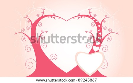 Valentine's Day pink vector card