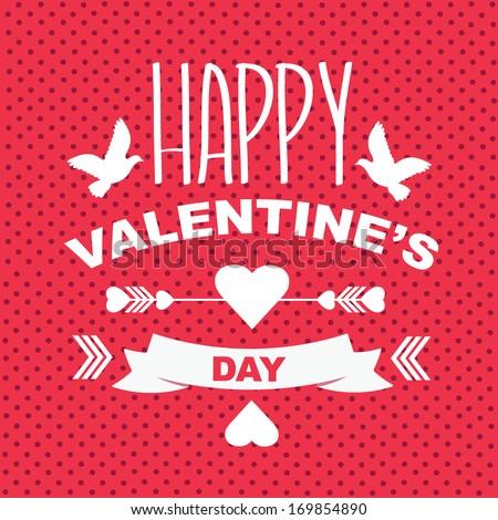 Valentine's Day poster.Typography.Vector illustration.