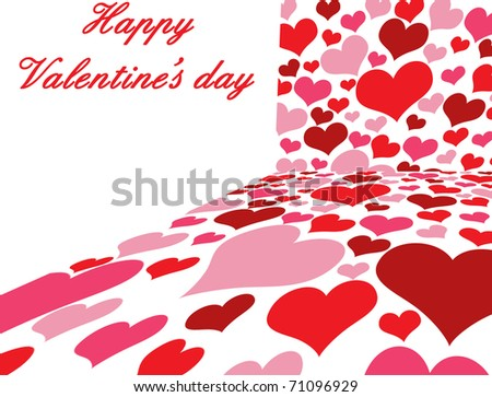 Valentine`s day poster with place for your text, vector illustration