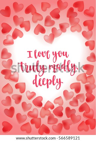 Valentine's Day Quote Romantic Saying For Posters Cards Or Leaflet Enchanting Romantic Saying