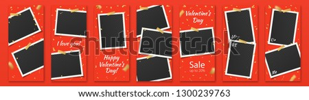valentine's day red editable