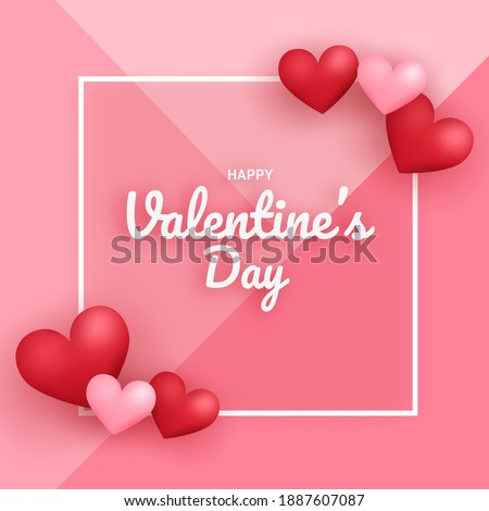 Valentine's day sale banner with a hearts.